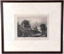 STAHLSTICH CHARLOTTENHOF, Potsdam, v. Friedrich Julius Umbach (1815-1877), um 1850, 18x14 cm, im