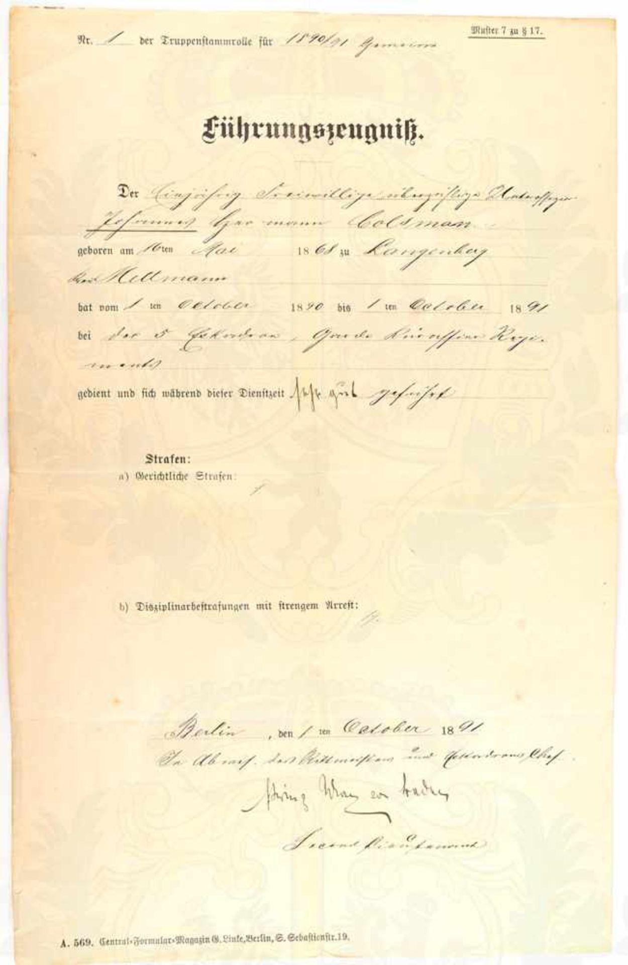 """BADEN, PRINZ MAX VON, (1867-1929, letzter Reichskanzler des Deutschen Kaiserreichs), Tinten OU """""""