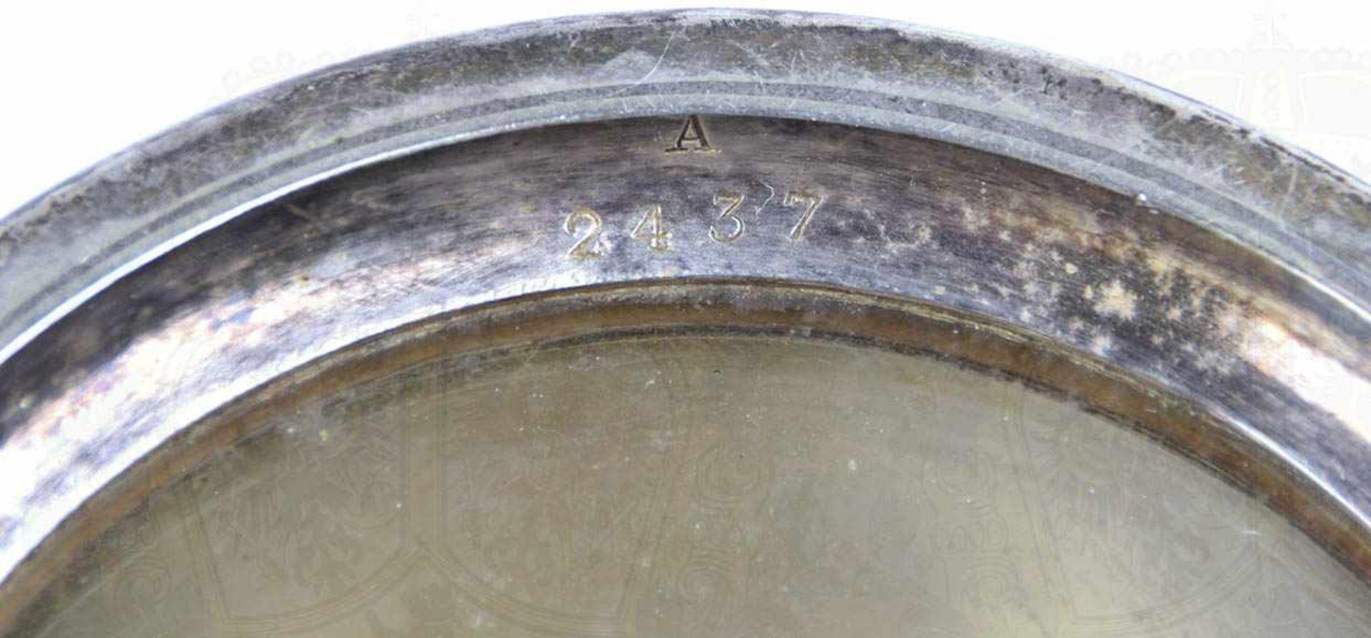 """SILVER-PLATED-BIERKRUG, 1/2 L., Hersteller """"Elkington &. Co."""" sowie """"A 2437"""" im Bodenrand, Henkel - Bild 6 aus 7"""