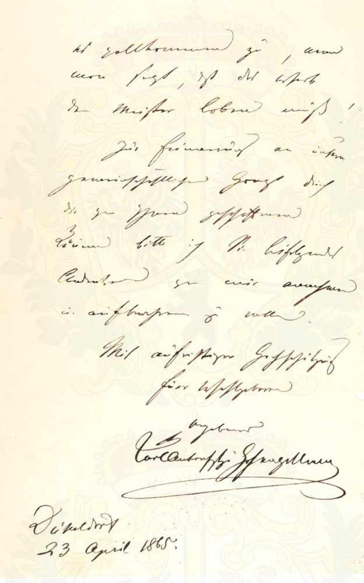 KARL ANTON FÜRST VON HOHENZOLLERN-SIGMARINGEN, (1811-1885, preuß. Ministerpräsident, Vater König