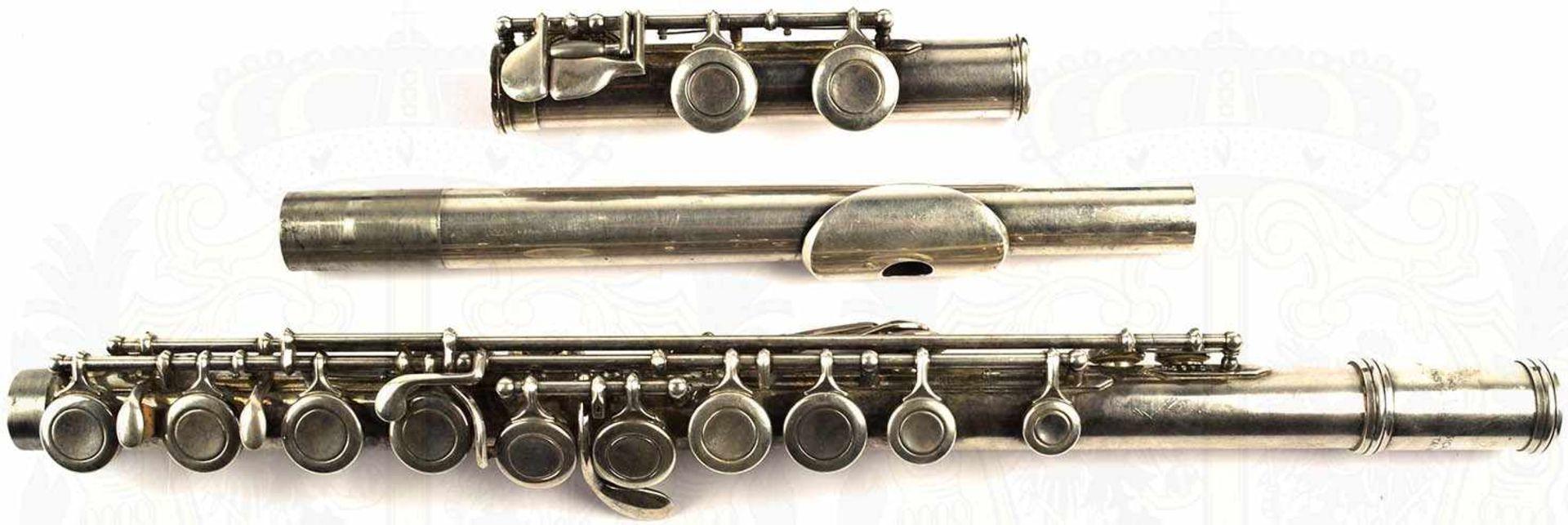 "QUERFLÖTE, Leichtmetall/vernickelt, m. Kopf-, Mittel u. Fußstück, Herst. ""Jupiter"", K.H.S. Musical - Bild 4 aus 4"
