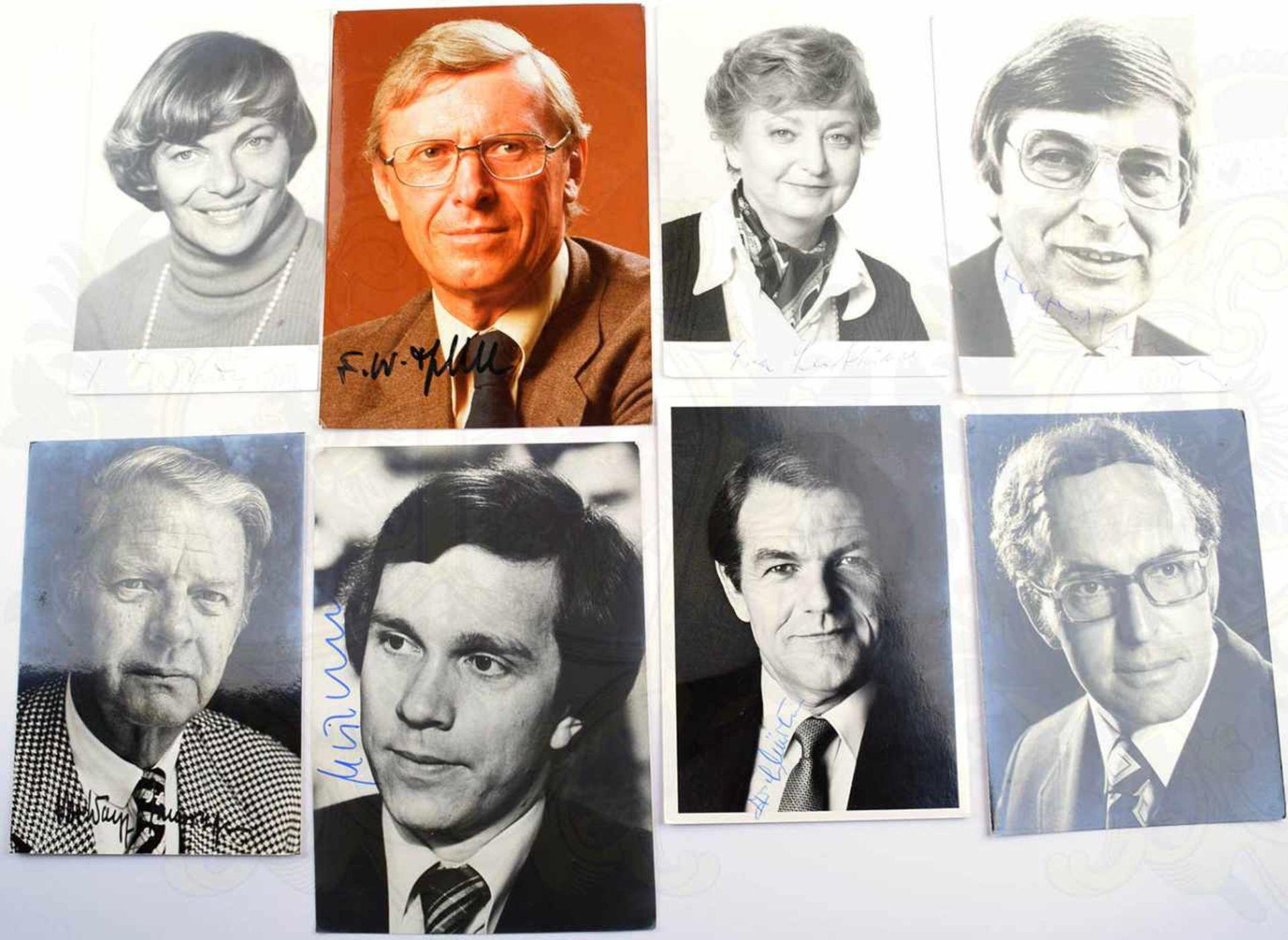 100 AUTOGRAMMKARTEN DEUTSCHE POLITIK 1979-1987, Bundesminister, Staatsminister Parlamentarische - Bild 2 aus 3