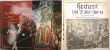 KONVOLUT SCHALLPLATTEN (Venyl-LP), Klassik, Volkslieder etc., 20 St., 70er Jahre, Cover m.