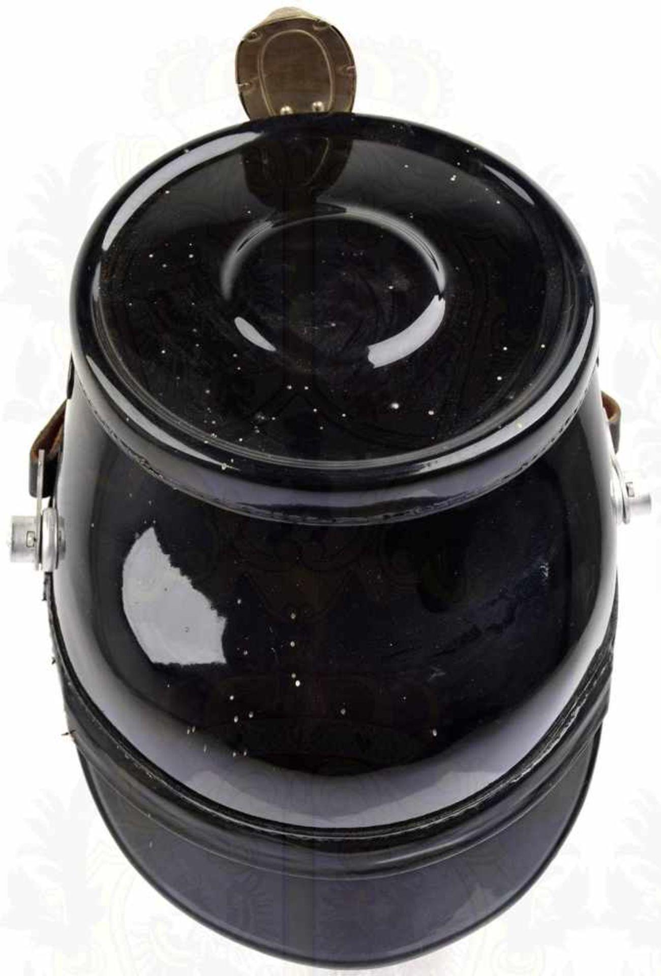 TSCHAKO POLIZEI WESTBERLIN, für Mannschaften, so getragen 1962-1968, schwarzer Fiberkorpus, je 2 - Bild 3 aus 3