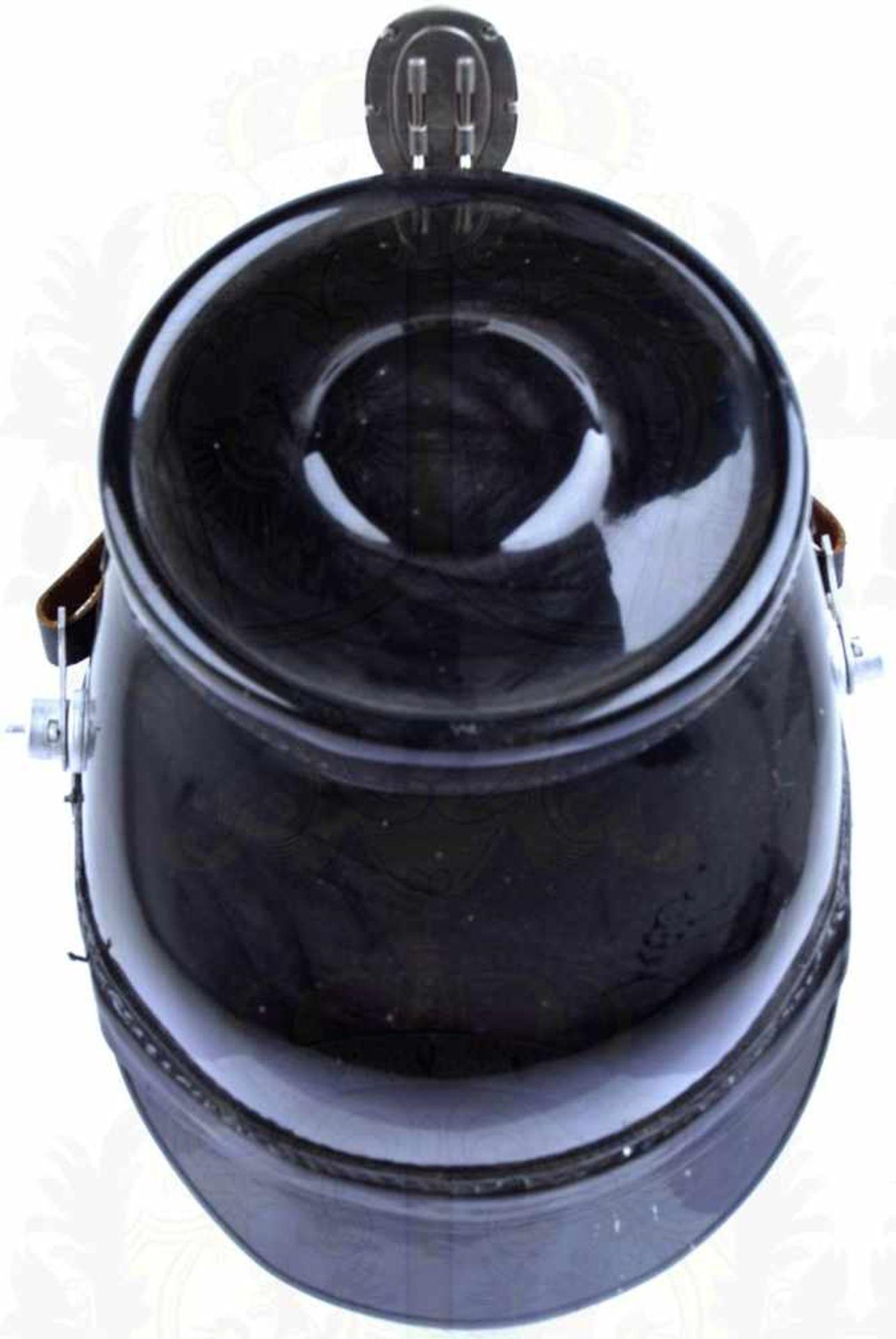 TSCHAKO POLIZEI WESTBERLIN, f. Mannschaften, so getragen 1962-1968, schwarzer Fiberkorpus, je 2 - Bild 4 aus 4