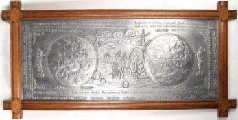 """WANDRELIEF """"OCUPANTIS TERRA NOVA"""", erhabene Darstellung der Landung von Christoph Kolumbus in"""