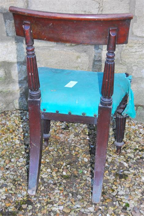 Lot 93 - A 19th century Mahogany side chair with reeded legs