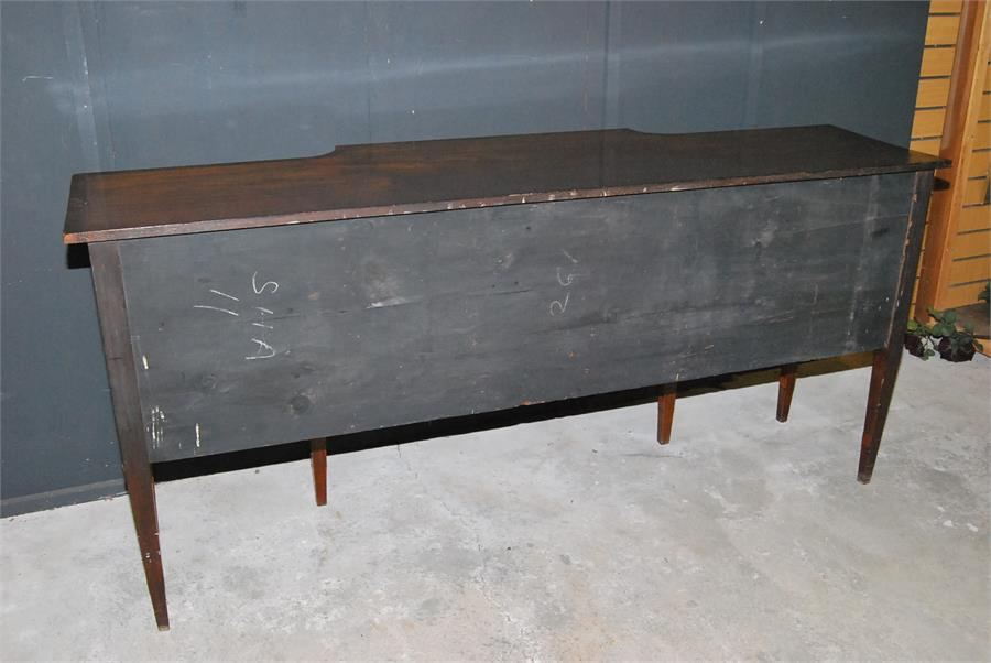 Lot 91 - A George III period, late 18th / early 19th century breakfront sideboard / server on eight