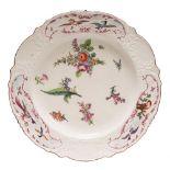 A Chelsea plate: of 'Warren Hastings' type,