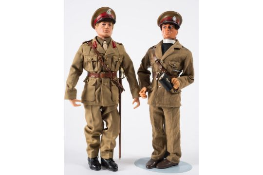 An Action Man Flock Hair British Army Officer And A Later 39eagle