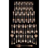 A Victorian silver Albert pattern part flatware service, maker Samuel Hayne & Dudley Carter, London,