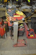 Lot 314 - HILTI DDBO AND DDEC1 CORING DRILLS WITH STAND AND WATER JET COMPRESSOR