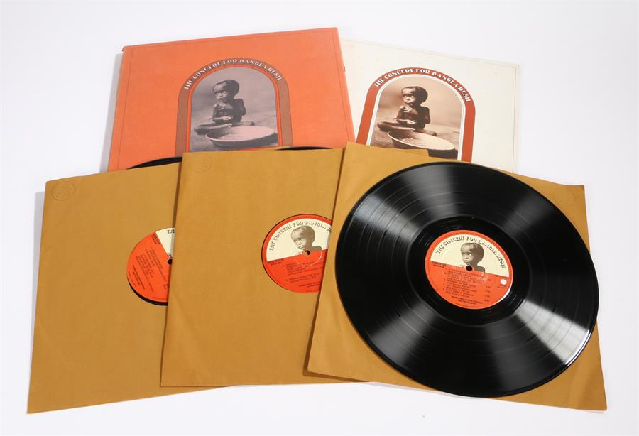 Lot 42 - The Concert For Bangladesh - 3 x LP Box set with booklet, featuring George Harrison, Bob Dylan.