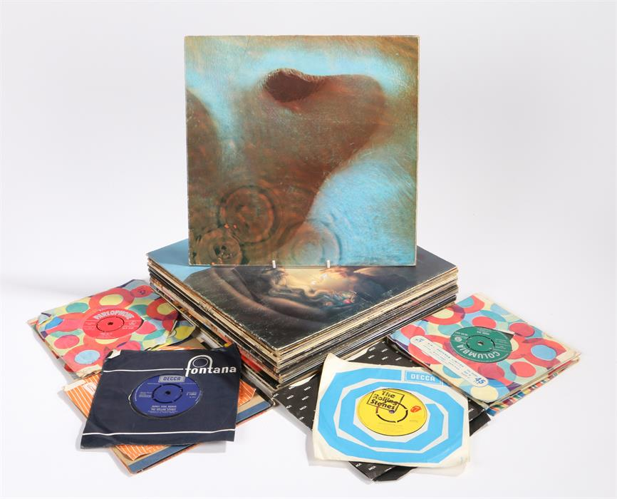 Lot 5 - 15 x Mixed 1960s/70s LPs to include, Pink Floyd (2) Meddle (textured gatefold sleeve) SHVL 795 A/B I