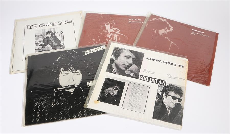 Lot 34 - 5 x Bob Dylan LPs. Pittsburgh 1966, smokey vinyl, Great White Wonder. The 1966 Live Acetates Vol 1 &