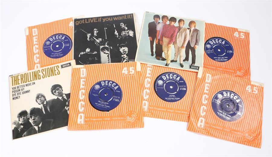 """Lot 56 - The Rolling Stones - 3 x EPs & 5 x 7"""" singles. The Rolling Stones s/t DFE 8560. Got LIVE If You Want"""