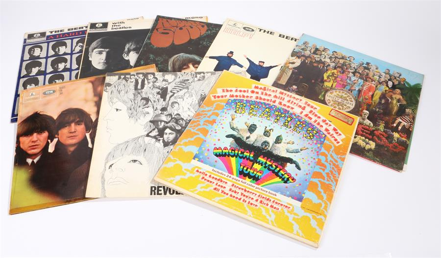 Lot 31 - 8 x Beatles LPs, With The Beatles PMC 1206 XEX 447/8-1N. A Hard Days Night PMC 1230 XEX 481/2-3N.
