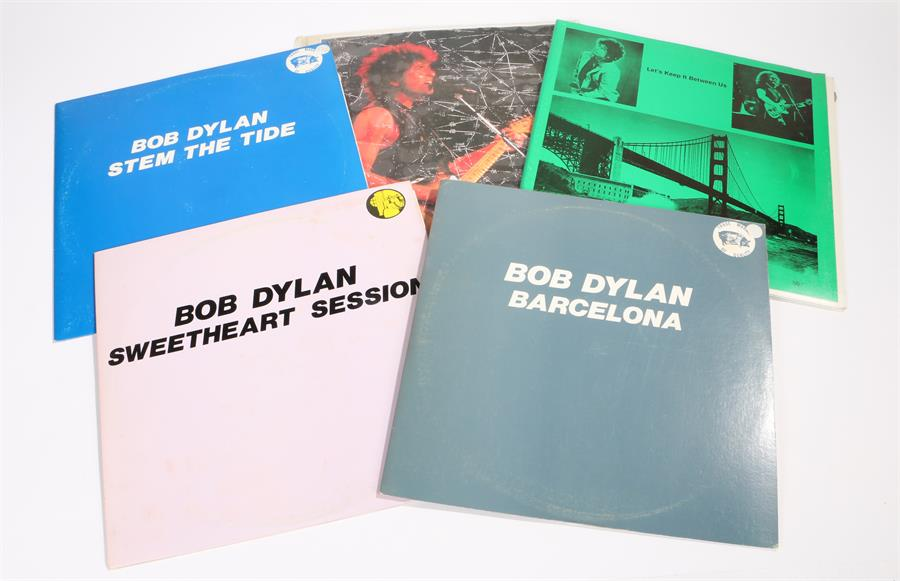 Lot 57 - 5 x Bob Dylan LPs. Stem The Tide, Live in Los Angeles 1984, TMQ. Lets Keep It Between Us with