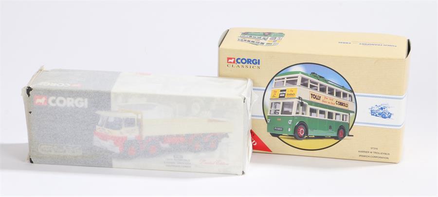 Lot 53 - Corgi 29401 Guy Invincible 8 wheel dropside, Dawsons fargo, Corgi Classics 97316 Karrier W