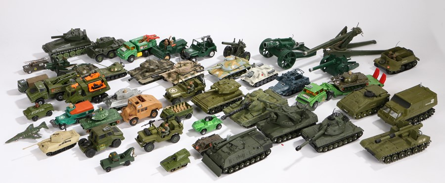 Lot 46 - Collection of Dinky. Britains and other military vehicles (qty)