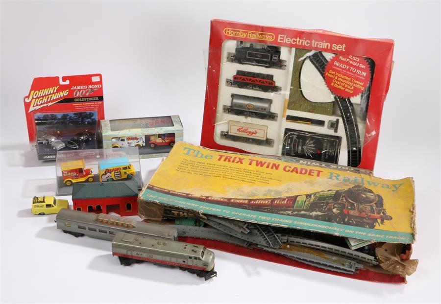 Lot 33 - Hornby Railways R.523 Rail Freight Set, housed in original box, Trix Twin Cadet model railway set,