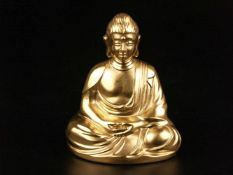 """Porzellanfigur """"Buddha"""" - Hoechst, blaue Radmarke mit Malerzeichen """"S.T."""", vollplastische"""