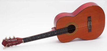 """Gitarre, Marke """"Royal Guitar"""" Abschlusssteg gebrochen. L.93cm."""