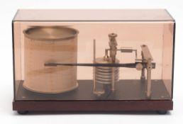 Barograph Im Originalkasten. 27x16x12cm
