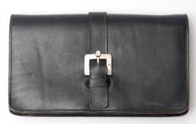 Handtasche (Clutch), Aigner Schwarzes Leder. 13x23cm.