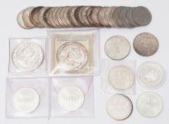 Großes Konvolut Münzen 23 5-Markstücke, unterschiedliche Prägejahre- und orte (20x1974, 1x1975,