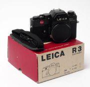 Kamera, Leica R3 electronic Im Originalkarton, mit Tragegurt.