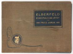 """Album """"Elberfeld - einstmals und jetzt"""", 20er/30er Jahre Leineneinband. 32x43cm."""