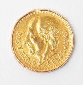 Zweieinhalb-Peso-Stück, Mexiko, 1945 Gew. ca. 2g.