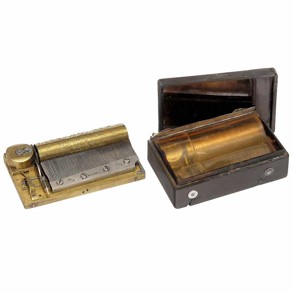 Lot 37 - 2 Musical Snuff Boxes for Restoration, 1830s 1)Early three-air movement by F. Lecoultre, No. 14,