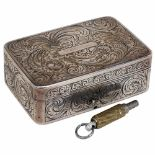 Lot 47 - Early Sur-Plateau Musical Silver Snuff Box, c. 1817Playing a single air on 22 teeth on both sides of
