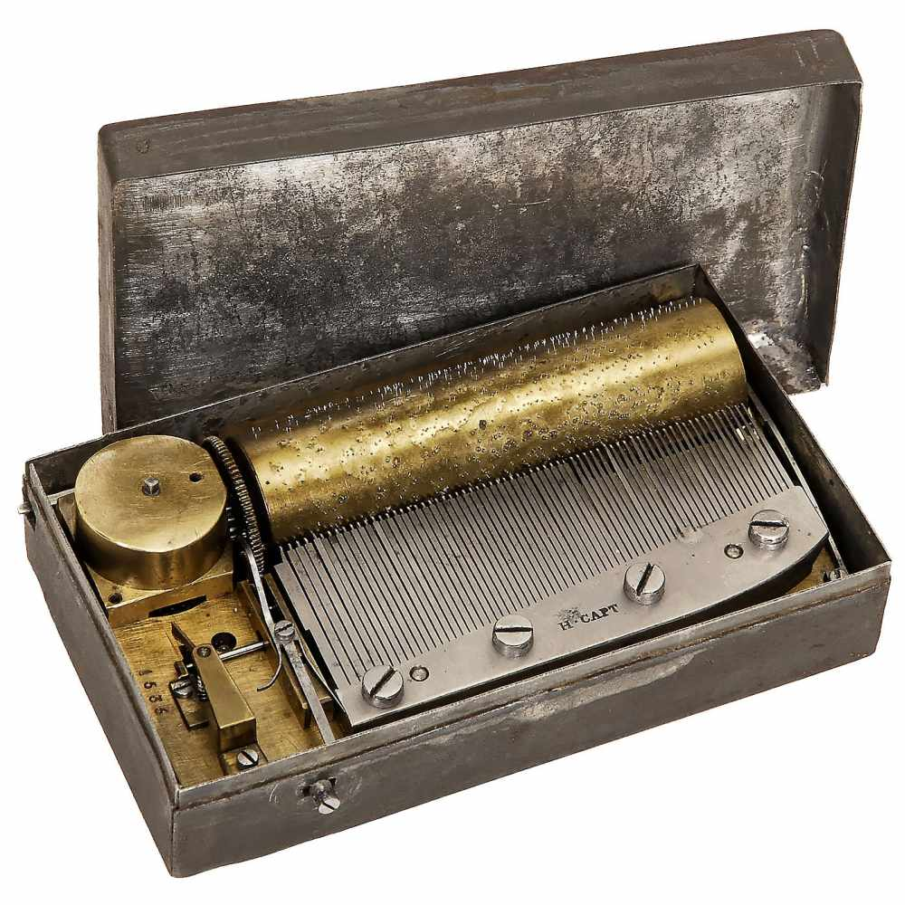 Lot 41 - Tabatière Musical Box by Henri Capt, c. 1830No. 1536, playing three airs, with single-piece comb (