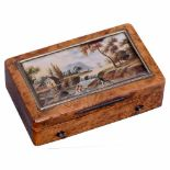 """Lot 60 - """"Laurencekirk"""" Musical Snuffbox, c. 1820Playing two airs, with sectional comb in 18 groups of 3"""