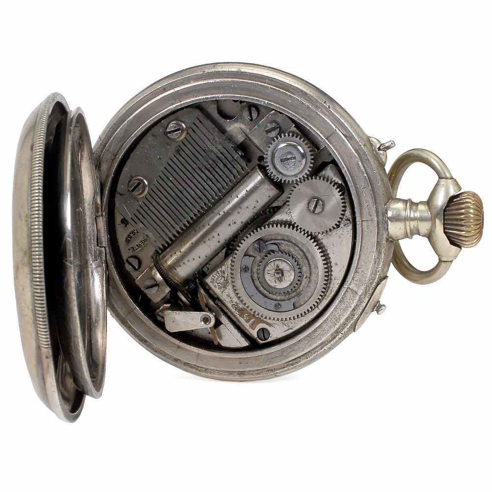 Lot 28 - Musical Watch with Alarm by L'Epée, c. 1885No. 1422, with 2-inch (5 cm) enameled Arabic dial with