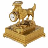 """Lot 8 - Rare Musical Compendium or """"Watch Dog"""", c. 1820Gilt-brass dog carrying a cushioned compass on his"""