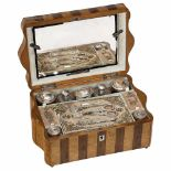 Lot 6 - Musical Traveling Case and Sewing Necessaire, c. 1840With fitted interior and two trays containing