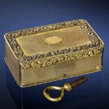 "Lot 13 - Rare Silver-Gilt Musical Snuff Box by Bruguier, c. 1818No. 466, the comb-base engraved ""Bruguier, 52"