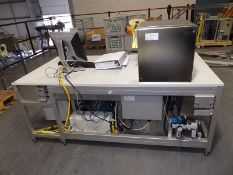 Konrad electronics testing station for ultrasonic testing of PXI 32/64bit circuit boards. Testing