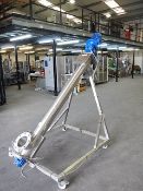 WAM TX screw elevator for powders. All stainless steel contact parts. Mounted on a robust