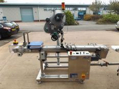 ALS 206 Top label applicator designed to apply self-adhesive labels and booklet labels to the top of