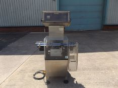 Garvens SL2PM Check Weigher. All Stainless Steel construction. Equipped with a high-precision load