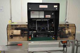 Seidenader V90-AVSB/60-LR visual inspection machine capable of speeds of up to 150 objects per