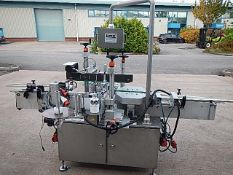 BBK RS1 front and back labeller with wrap around unit. Maximum label height 150mm. Comes with
