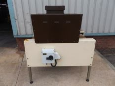 Burnley Packaging PE500/300 Semi automatic heat shrink sealer. Can be used with PVC and PE shrink