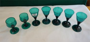 7 Bristol Green assorted wine glasses