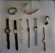 9 assorted ladies and gents watches